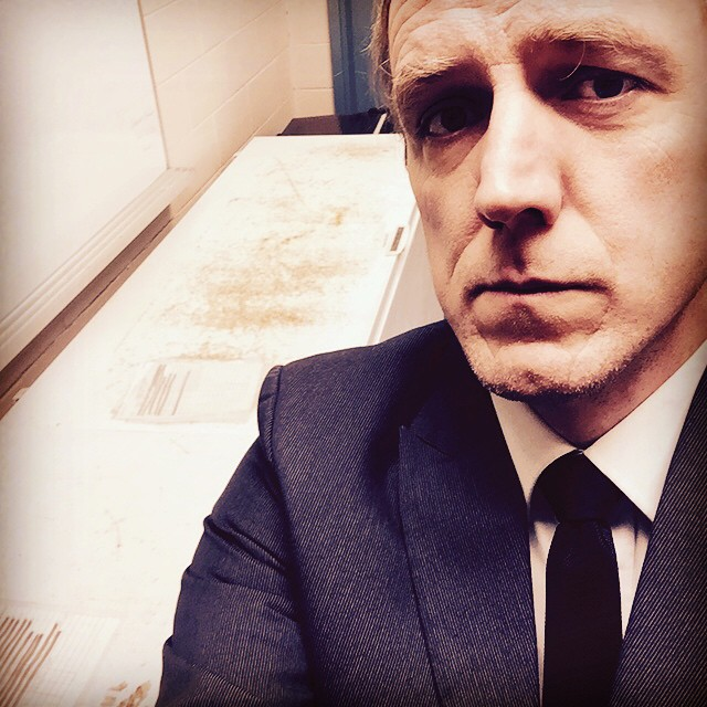 Full black suit mode for #tiedayfriday as it is the 13th. With deep freezers top accent.