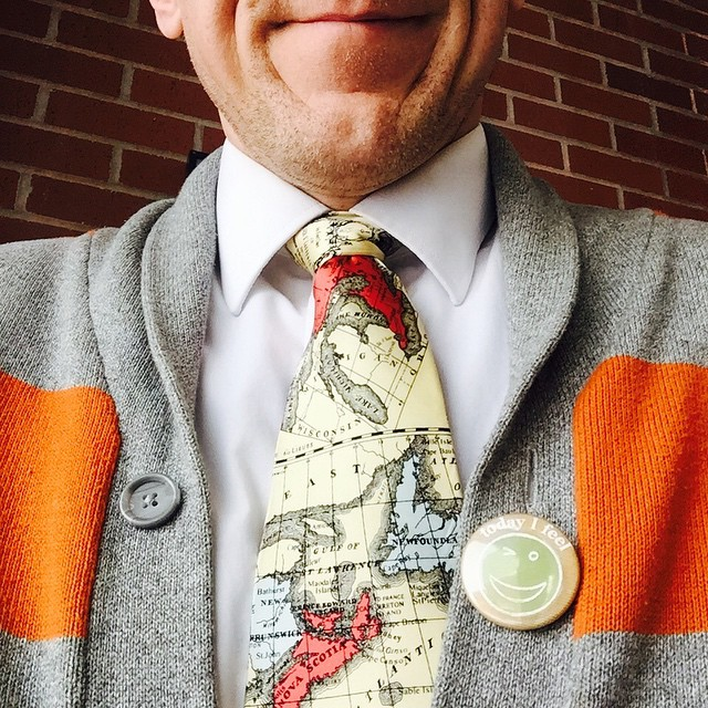 This #tiedayfriday is the last day of #upeimentalhealthweek and I am going to  stay healthy.- Notice #pei in tie ;)
