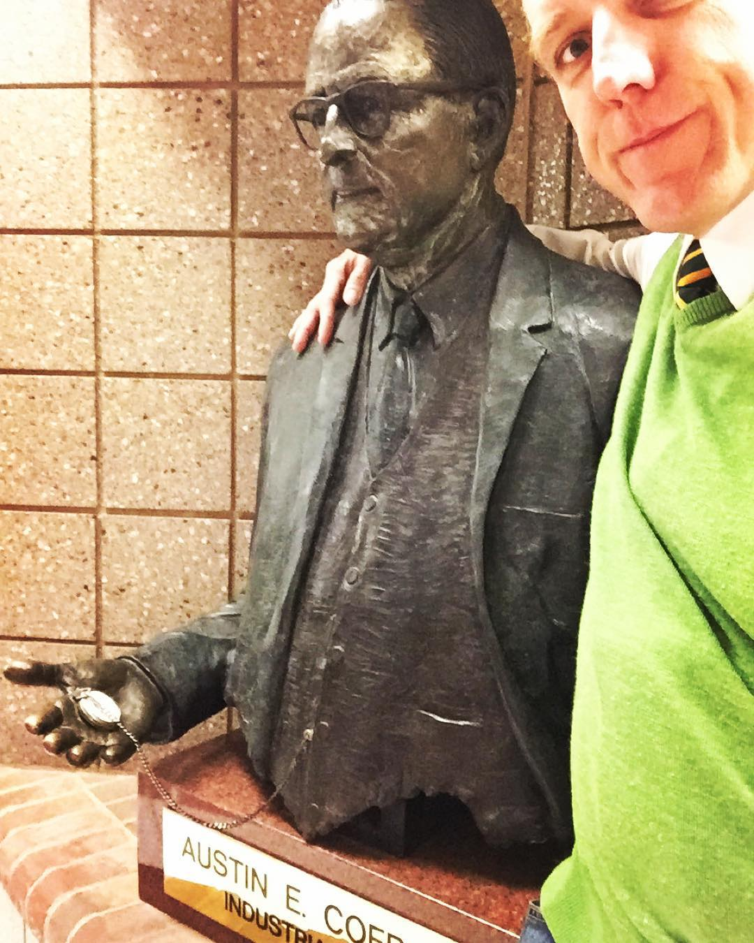 I pass this guy many times a day. Always feels like he's keeping time for me. #tiedayfriday