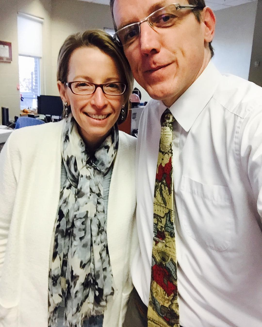 Voyage themed #tiedayfriday for our esteemed and awesome CIO's last day. Will miss her greatly. #raerules