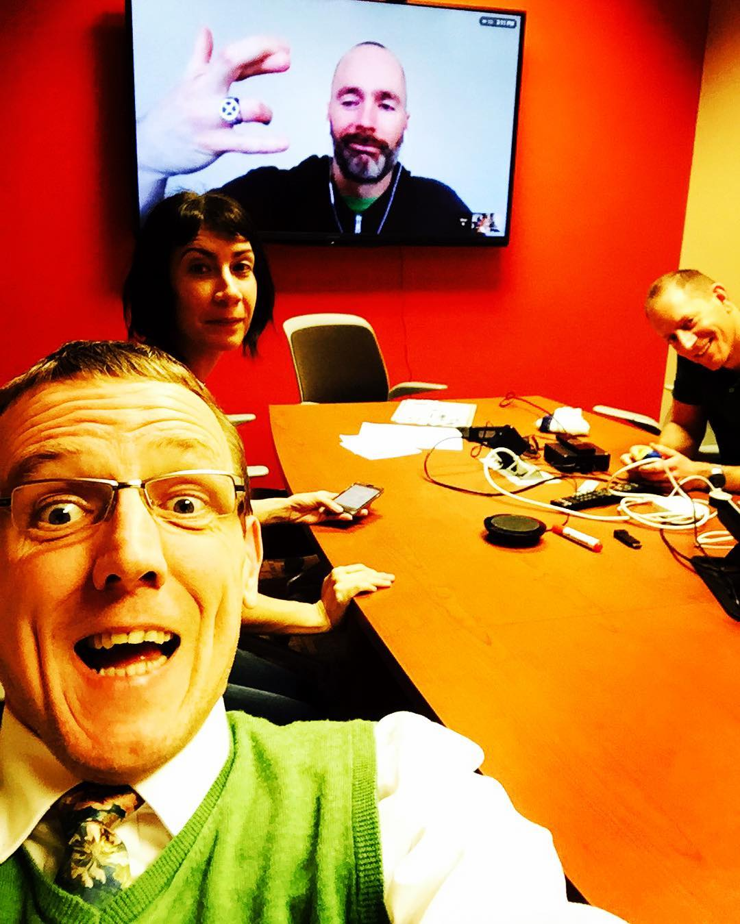 Awesome #tiedayfriday #edtech meet with @hummer645 @sundilu and Brian Brown @stnorbert