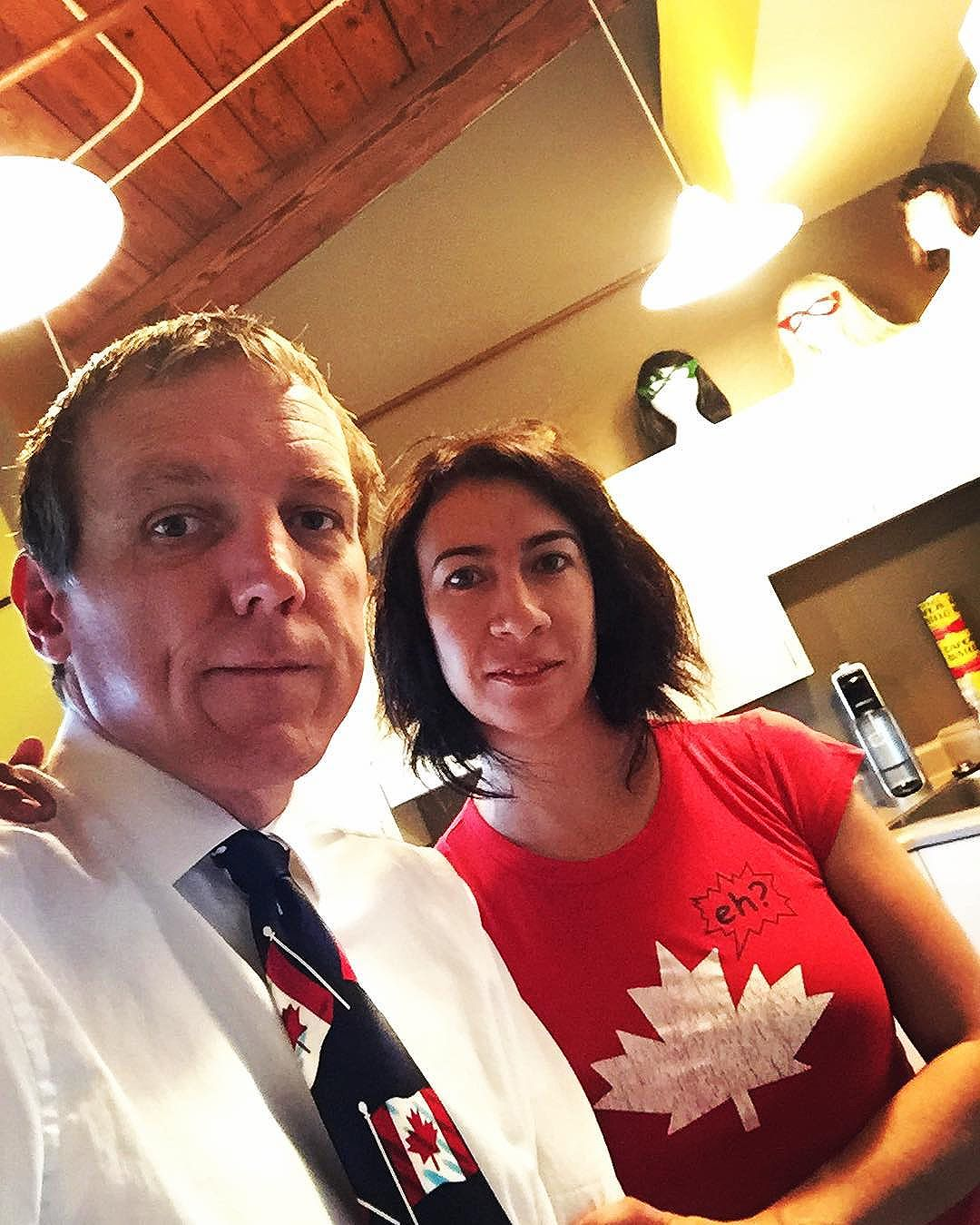 Happy #canadaday #tiedayfriday! – had a great dream of Mamie last night and wore her tie today. Listened to The Hip all morning and @sundilu sports a great Canada shirt as well.