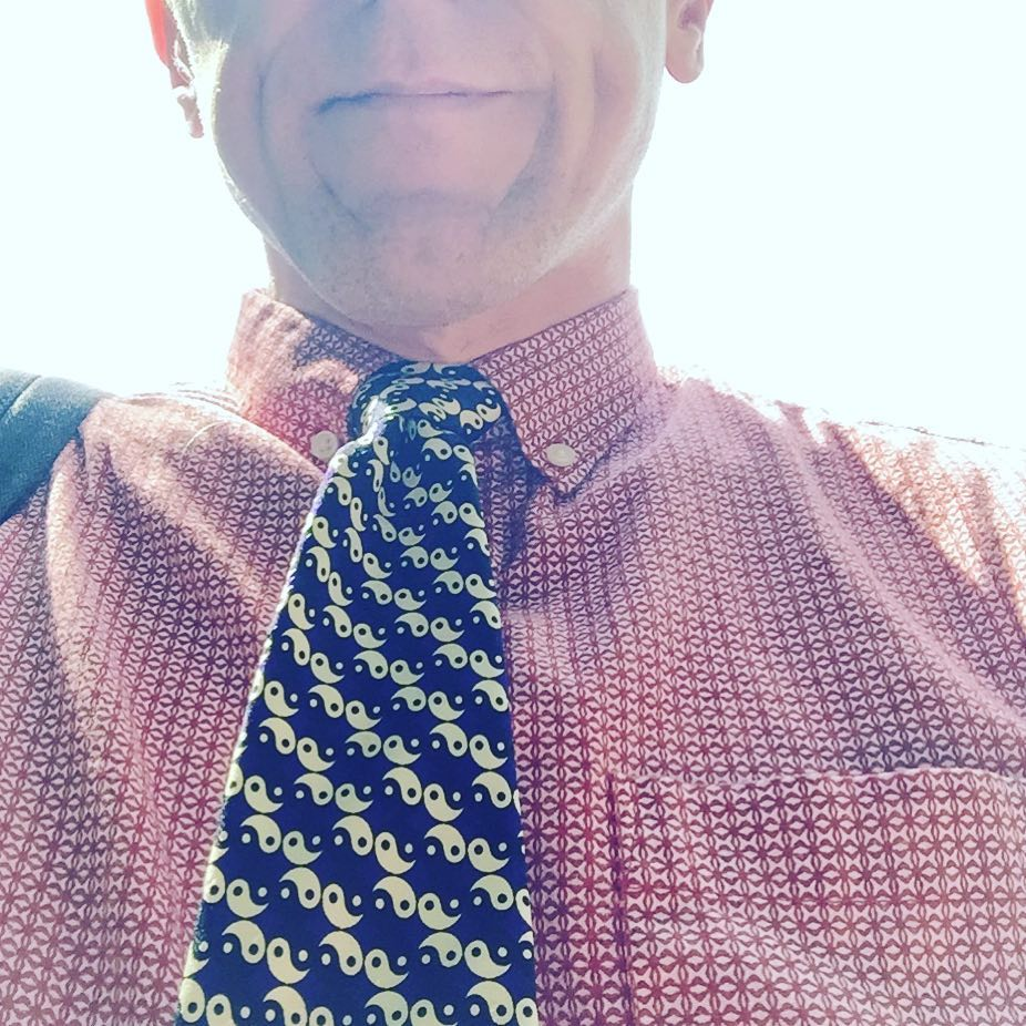 Super belated gift yin-yang tie for #womensequalityday for #tiedayfriday ;)