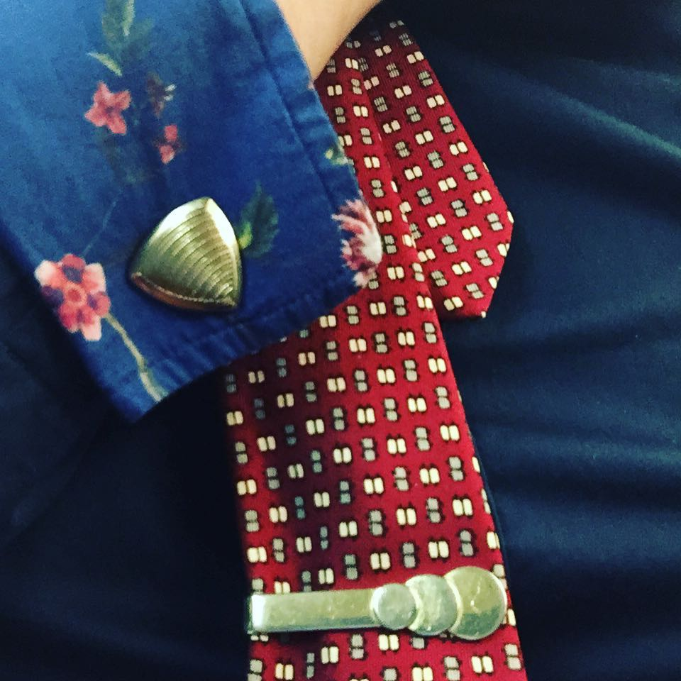 Picked up #vintage tie, clip, and cuffs at #opened16 for #tiedayfriday :) Will wear them next year at #opened17?