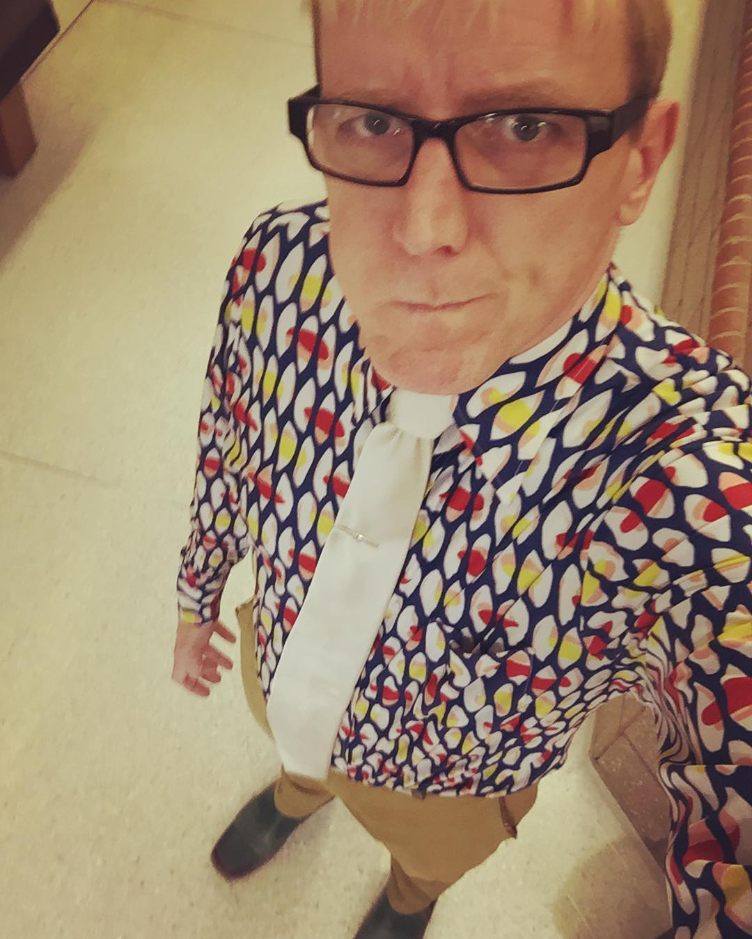 """Two random students told me they loved my #tiedayfriday outfit. Calling this shirt """"lanclos"""" cause she urged me to buy it."""