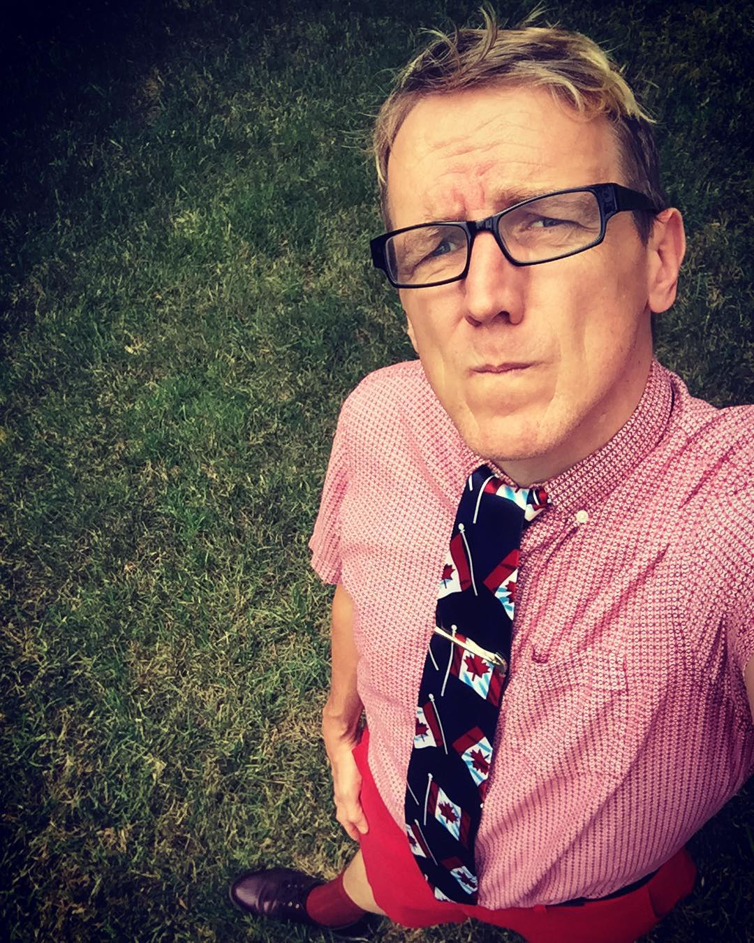 All red thinking of my peeps tomorrow celebrating #canadaday with #tiedayfriday from my mom