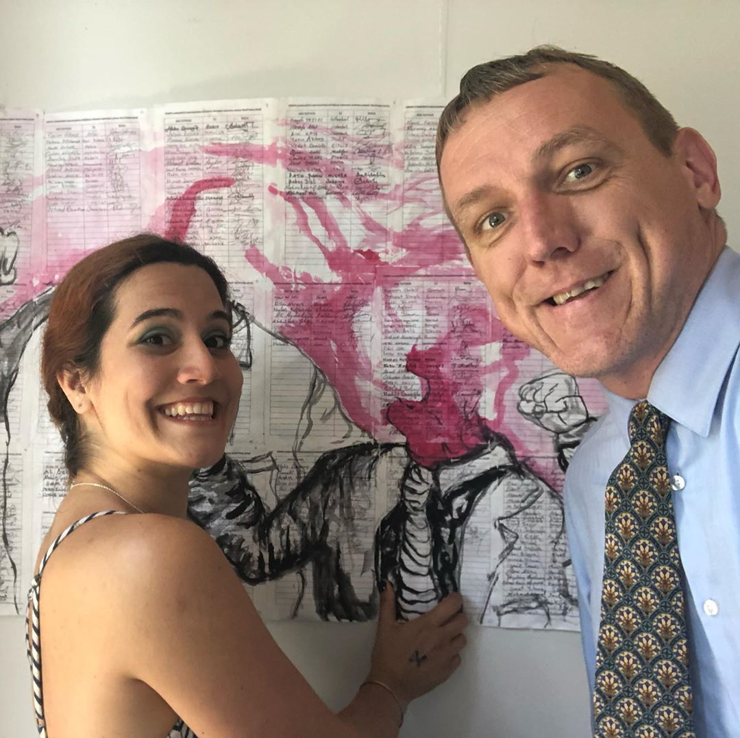 Awesome #tiedayfriday this week – bought this piece for our house from @davidsoncollege graduating art and sociology major @yasemintekgurler