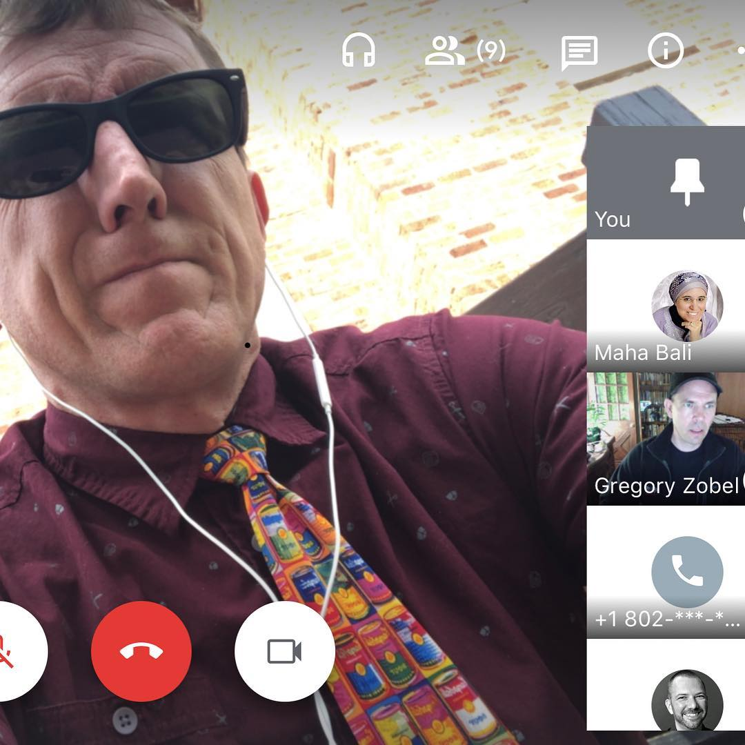 Very hectic #tiedayfriday working on #mememooc and ending with a great chat with the awesome #hybridpedagogy peeps (wearing the tie I think is closest to a meme ht @brianjamespirman)